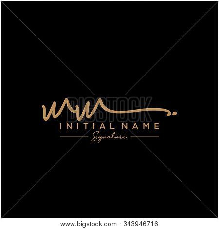 Letter Initial Ww Signature Logo Template Vector