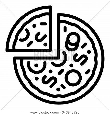 Cooked Pizza Icon. Outline Cooked Pizza Vector Icon For Web Design Isolated On White Background