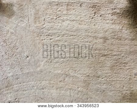 Concrete Wet Floor, Embossed Cement Floor, With Different Protruding Lines, Background Texture