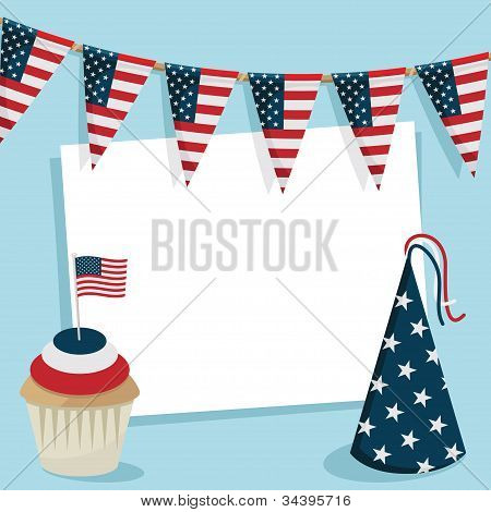 Usa Party Card