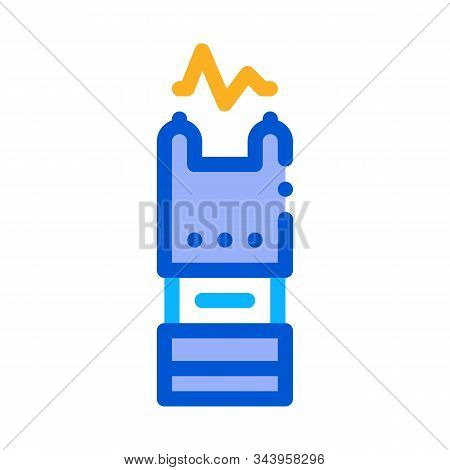 Stunning Electric Shock Icon Vector. Outline Stunning Electric Shock Sign. Isolated Contour Symbol I
