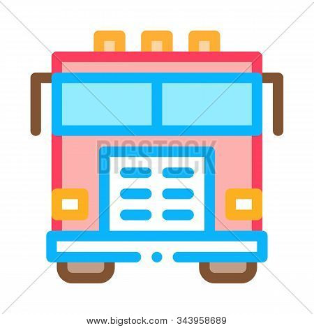 Fire Department Truck Icon Vector. Outline Fire Department Truck Sign. Isolated Contour Symbol Illus