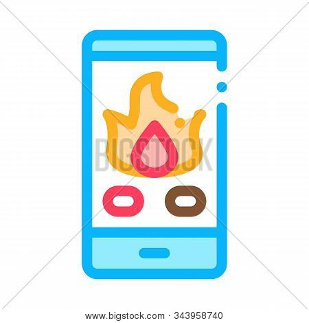 Phone Call Fire Dept Icon Vector. Outline Phone Call Fire Dept Sign. Isolated Contour Symbol Illustr