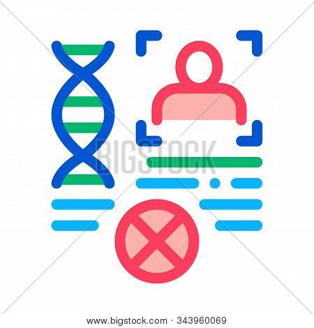 Rebuttal Paternity File Icon Vector. Outline Rebuttal Paternity File Sign. Isolated Contour Symbol I