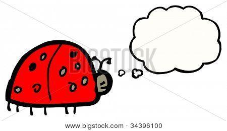 child's drawing of a ladybug