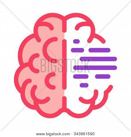Brain Mental Health Icon Vector. Outline Brain Mental Health Sign. Isolated Contour Symbol Illustrat