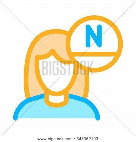Woman Rejuvenate Vitamin Icon Vector. Outline Woman Rejuvenate Vitamin Sign. Isolated Contour Symbol