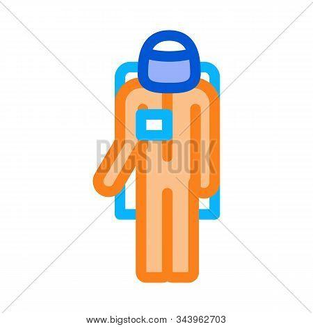 Astronaut Cosmic Suit Icon Vector. Outline Astronaut Cosmic Suit Sign. Isolated Contour Symbol Illus