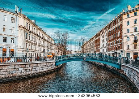 Canal Gribobedov. Urban View Of Saint Petersburg. Russia.