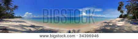 Panorama Of The Tropical Beach