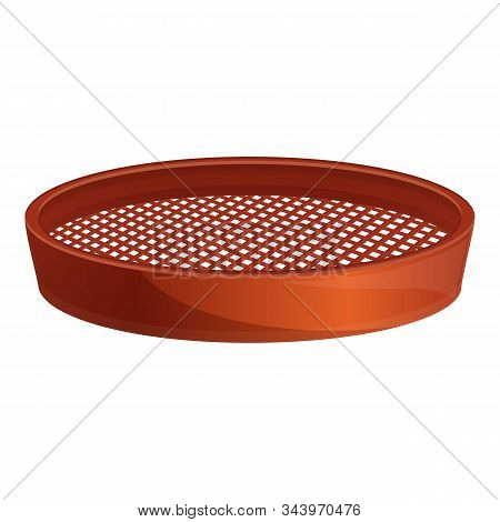 Chef Sieve Icon. Cartoon Of Chef Sieve Vector Icon For Web Design Isolated On White Background
