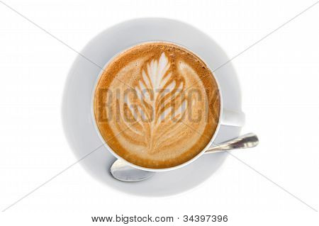 Cappucino With Leaf Shape Foam