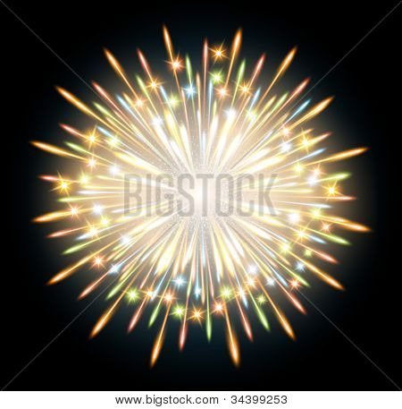 Fireworks Background Glow Explosion Blue