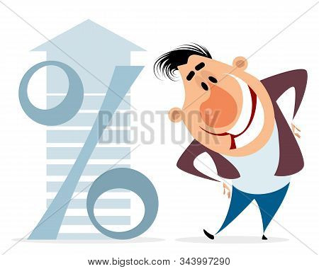 Vector Illustration Of A Caricature Of A Successful Businessman