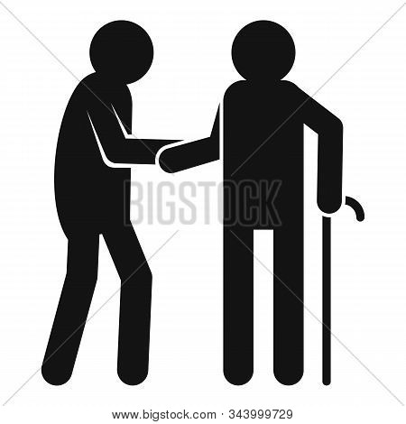 Caregiver Volunteer Icon. Simple Illustration Of Caregiver Volunteer Vector Icon For Web Design Isol