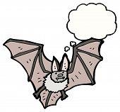spooky bat cartoon poster