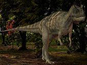 3 D Render of an Ceratosaurus nasicornis-3D Dinosaur poster