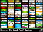 Mega collection of 78 abstract professional and designer business cards or visiting cards on different topic, arrange in horizontal. EPS 10. poster