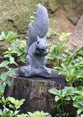 garden squirrel poster