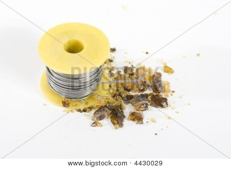 Spool Of Tin For Soldering With Some Resin