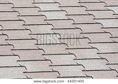 Interlocking asphalt roof shingles for construction background poster