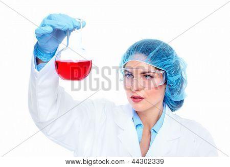 Scientific women in laboratory. Health care research.