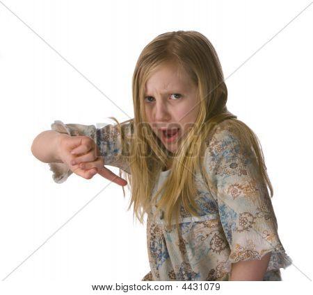 Girl Wagger Her Finger
