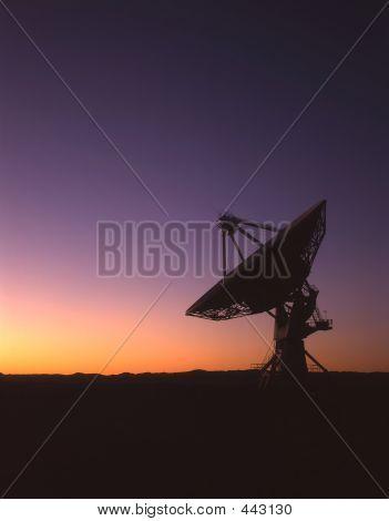 Satellite Dish Silhouette