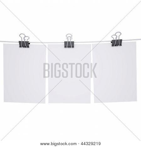 Binder-Papier mit einem Seil