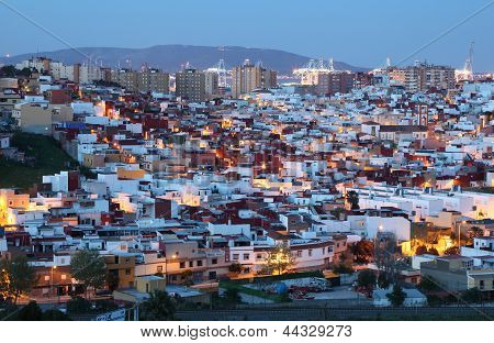 Algeciras At Dusk. Spain