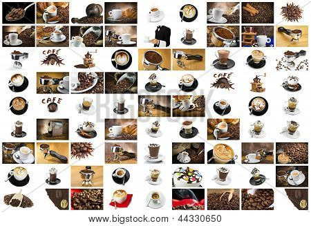 Coffee and Cappuccino Collage