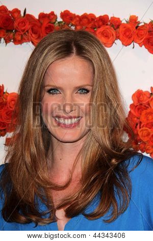 LOS ANGELES - APR 10:  Rebecca Mader arrives at the Coach's 3rd Annual Evening of Cocktails and Shopping at the Bad Robot on April 10, 2013 in Santa Monica, CA