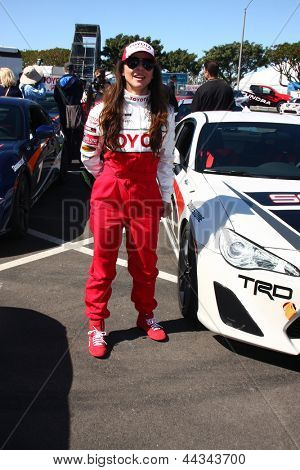 LOS ANGELES - APR 9:  Kate del Castillo at the Toyota ProCeleb Race Press Day 2013 at the Toyoto Grand Prix Circuit on April 9, 2013 in Long Beach, CA