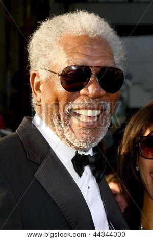 LOS ANGELES - APR 10:  Morgan Freeman arrives at the