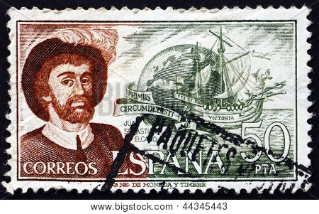 Postage Stamp Spain 1976 Juan Sebastian Elcano, Navigator