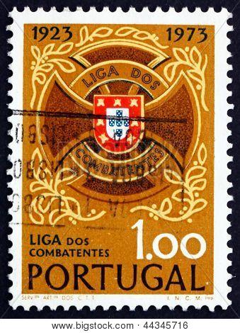 Postage Stamp Portugal 1973 Servicemen's League Emblem