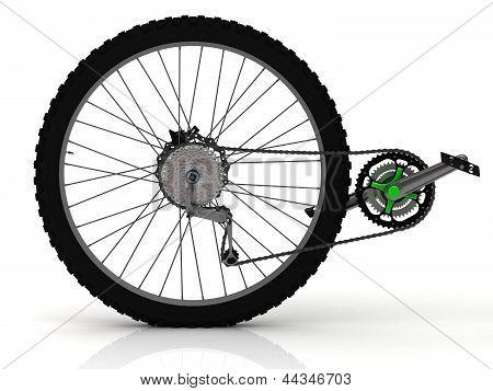 Rear Wheel Of A Sports Bike