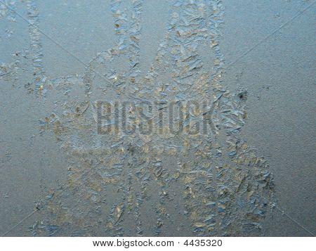 Ice Crystal On Windowpane