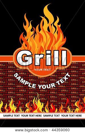Grill. Barbecue and grill background.