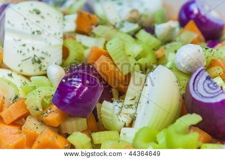 Trivet Of Root Vegetables