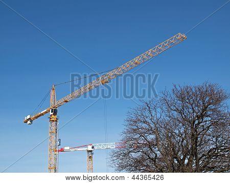 Two Industrial Cranes