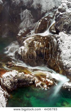 Beautiful Winter Waterfall