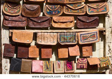 Handmade Bags In An Indian Market.