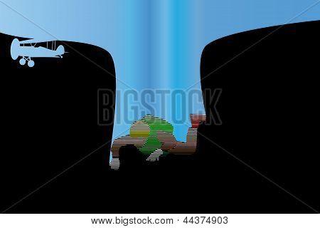 Flight of parachutist