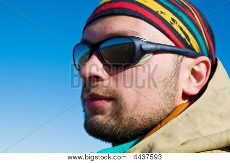 Hiker In Sunglasses