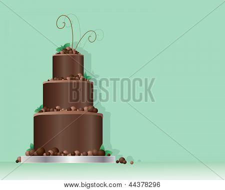 Chocolate Balls Cake