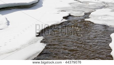Snow Melts In Spring