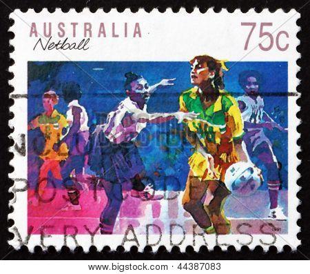 Postage Stamp Australia 1991 Netball, Ball Sport
