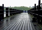 river, london, river thames, pier, pier view, water, platform, walkway, poster