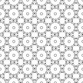 A fancy black and white geometric design poster